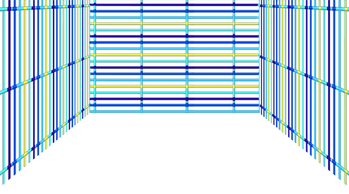 Niebieska siatka