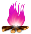 Pożar drewna