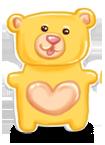 Urodziny słodycze niedźwiedź
