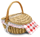 Piknik z zamkniętym koszykiem