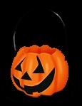 Halloweenowy dyniowy kosz