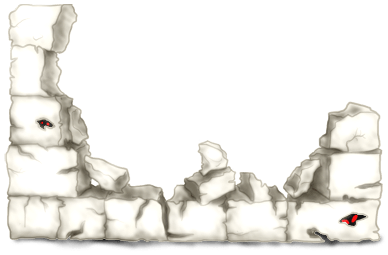 Halloweenowy mur ceglany