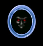 Vampire Face Mirror