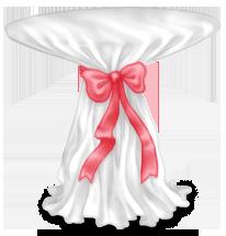 Stół weselny o wysokim pucharze
