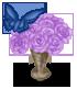 Ścieżka tańca wazon z różami