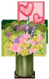 Wazon z kwiatami i sercem