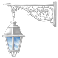 Lampa podłogowa z żonatym samochodem