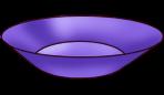 Fioletowy talerz