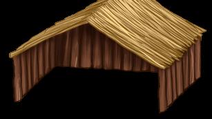 Duży drewniany Domek