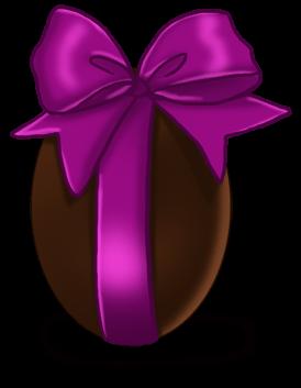 Duże czekoladowe jajko