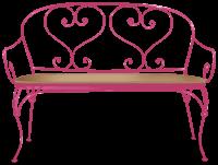 Sofa z kutego żelaza