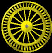 Żółte koło tła