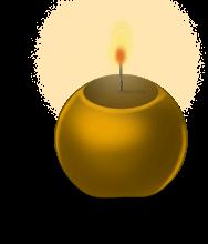 Okrągła świeca