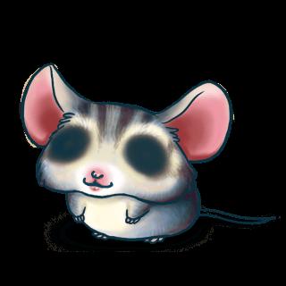 Adoptuj Mysz Niebieski szary