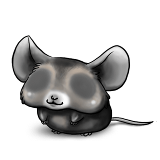 Adoptuj Mysz Czarno-biały